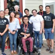 Biophysics Class of 2019 at MBG Picnic